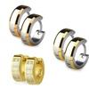 Stainless Steel Mirror-Polished Huggie Earrings