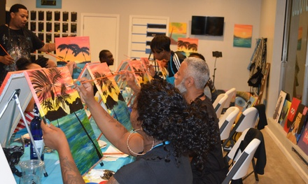 Two-Hour BYOB Wine and Paint Class for One or Two at Platinum Art (Up to 50% Off)