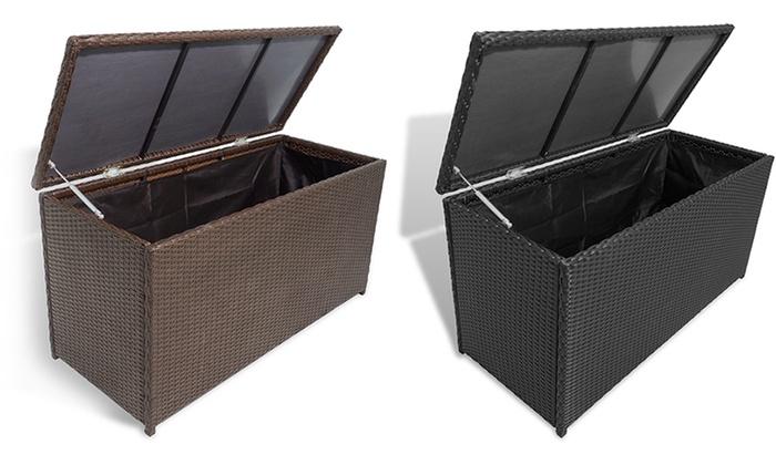 jusqu 39 14 caisse de stockage rattan 120x50x60 groupon. Black Bedroom Furniture Sets. Home Design Ideas