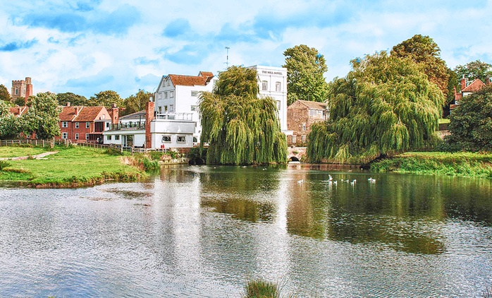 Suffolk: 1 or 2 Nights for Two with Breakfast, Dinner and Cream Tea at 4* The Mill Hotel