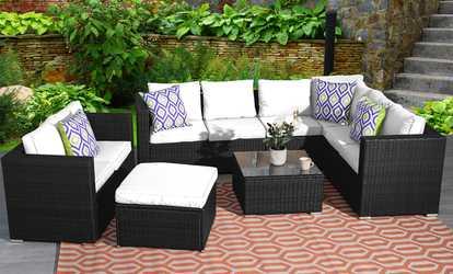 Patio garden furniture sets deals coupons groupon for Outdoor furniture groupon