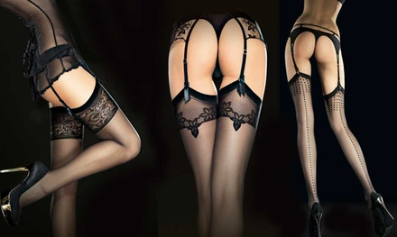 Fiore Belt Stockings Three-Pack for £9.98 (67% Off)
