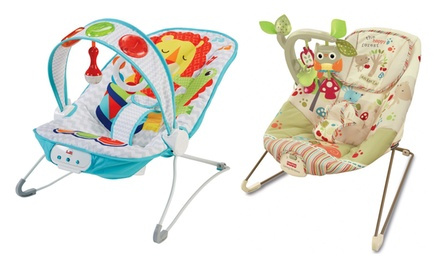 FisherPrice Kick and Play or Woodsie Bouncer With Free Delivery
