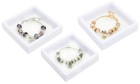 1 ou 2 bracelets Love Charm, ornés de cristaux Swarovski®