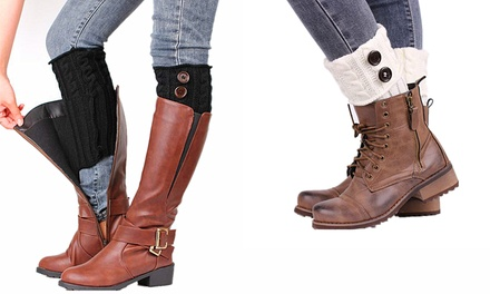 Lace or Button Winter Warm Boot Toppers