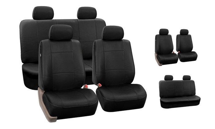 Full Set Of Faux Leather Seat Covers