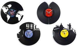 Orologio su disco in vinile