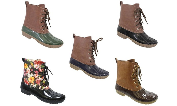 Mata Women's Ankle High Lace-Up Duck Boots