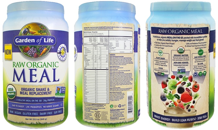 Garden Of Life RAW Organic Shake And Meal Replacement (33.5oz.): Garden