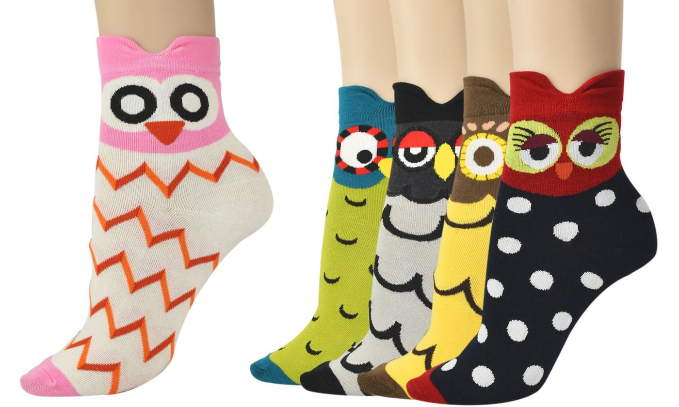 Five-Pack of Women's Owl Socks