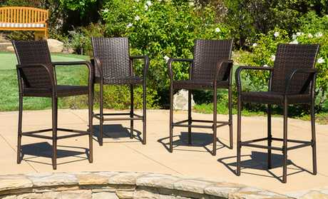 image for McComb Bar Stool (2- or 4-Pack) - Patio Furniture - Deals & Coupons Groupon