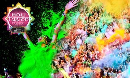 Tickets voor het Holi Fusion Festival 2017 in Eindhoven of Maastricht, naar keuze met kleurpoeder en Tshirt