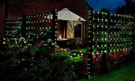 Fino a 160 luci a LED con pannello solare PMS International, disponibili in 2 colori