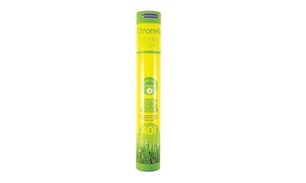 40Pack of Chatsworth Citronella Garden Incense Sticks with Holder
