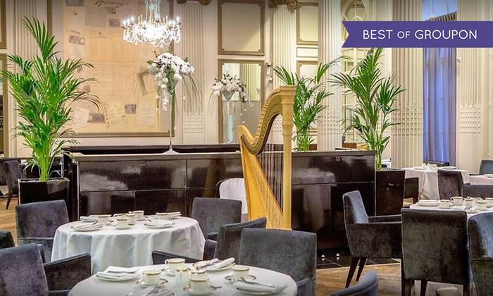 Homage Restaurant - Covent Garden: 5* The Waldorf Hilton Covent Garden: Champagne Afternoon Tea for One or Two at Homage Restaurant (Up to 51% Off)