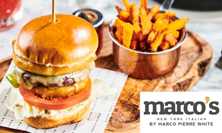 TwoCourse Meal for Two at Marco's New York Italian, Eight Locations
