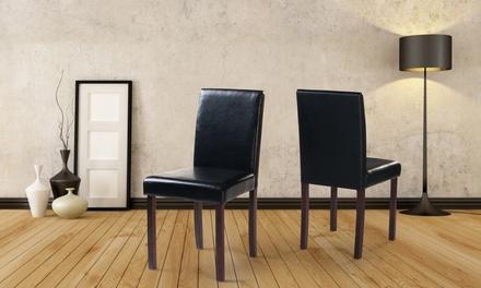 Dark Brown Wooden Chairs
