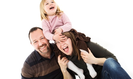 Family Photoshoot with Classic Framed Image at Lite Box Imagery