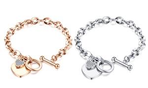 Bracelet avec pendentif coeur orné de cristaux Swarovski®
