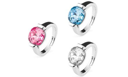Salvia Ring in Blau, Rosa oder Kristall, verziert mit Kristallen von Swarovski®(91% sparen*)