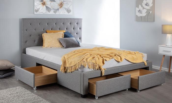 Avondale Grey Four-Drawer Storage Bed
