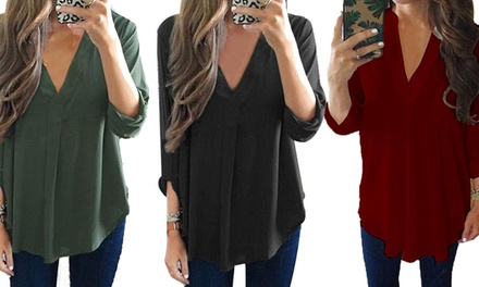 Long Chiffon Blouse