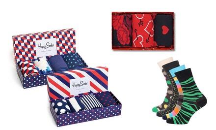 3, 4, 6 of 8 paar Happy Socks in geschenkverpakking, collectie naar keuze vanaf € 17,99 (tot 50% korting)