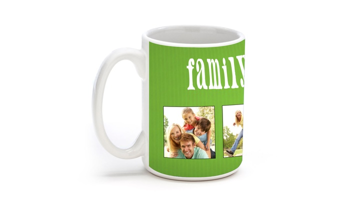 MailPix: $5 for One 11 Oz Personalized Photo Mug from MailPix ($11 Value)