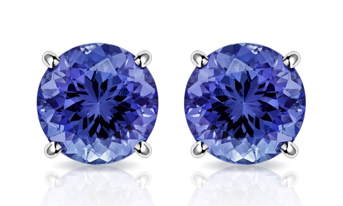new earrings tanzanite gold store product for white gift trillion fine buy mother thanksgiving women solid com aliexpress jewelry