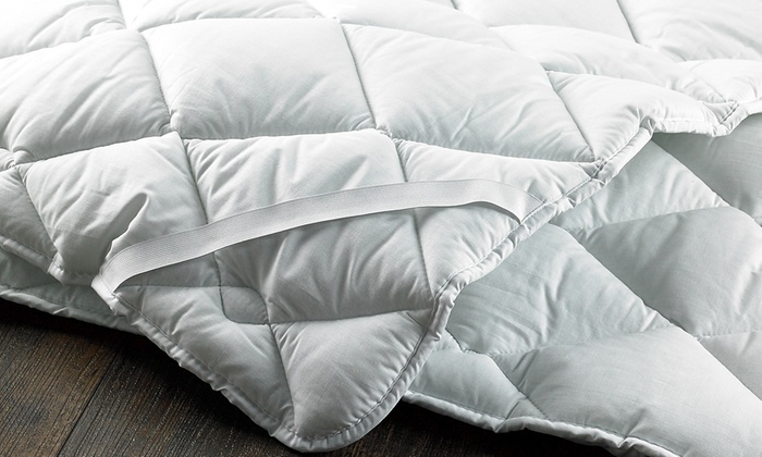 Diamond Quilted Microfibre Mattress Topper from £14 (53% OFF)