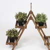 Two-Tier Wooden Plant Stand with Chalkboard