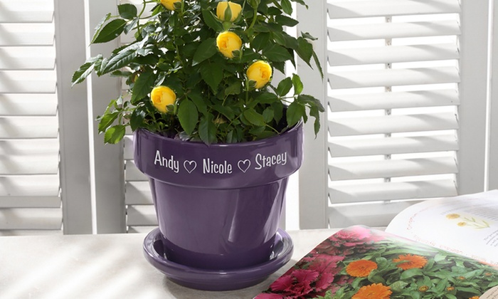 Personalized Flower Pot Up To 52 Off Livingsocial