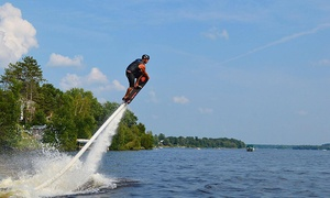 FlyAxion: Flyboarding or Hoverboarding for One or Two including Video Souvenir with FlyAxion (Up to 71% Off)