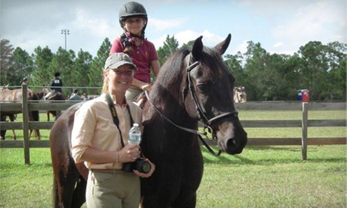 North County Training Facility - Jupiter: One or Three 60-Minute Horseback-Riding Lessons at North County Training Facility (Up to 54% Off)