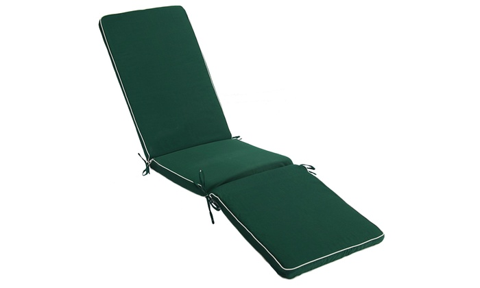 Green Steamer Relaxer Chair Cushion with Ecru Piping (£29.99)