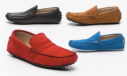 Men's Leather Loafers for £44.99 With Free Delivery (57% Off)