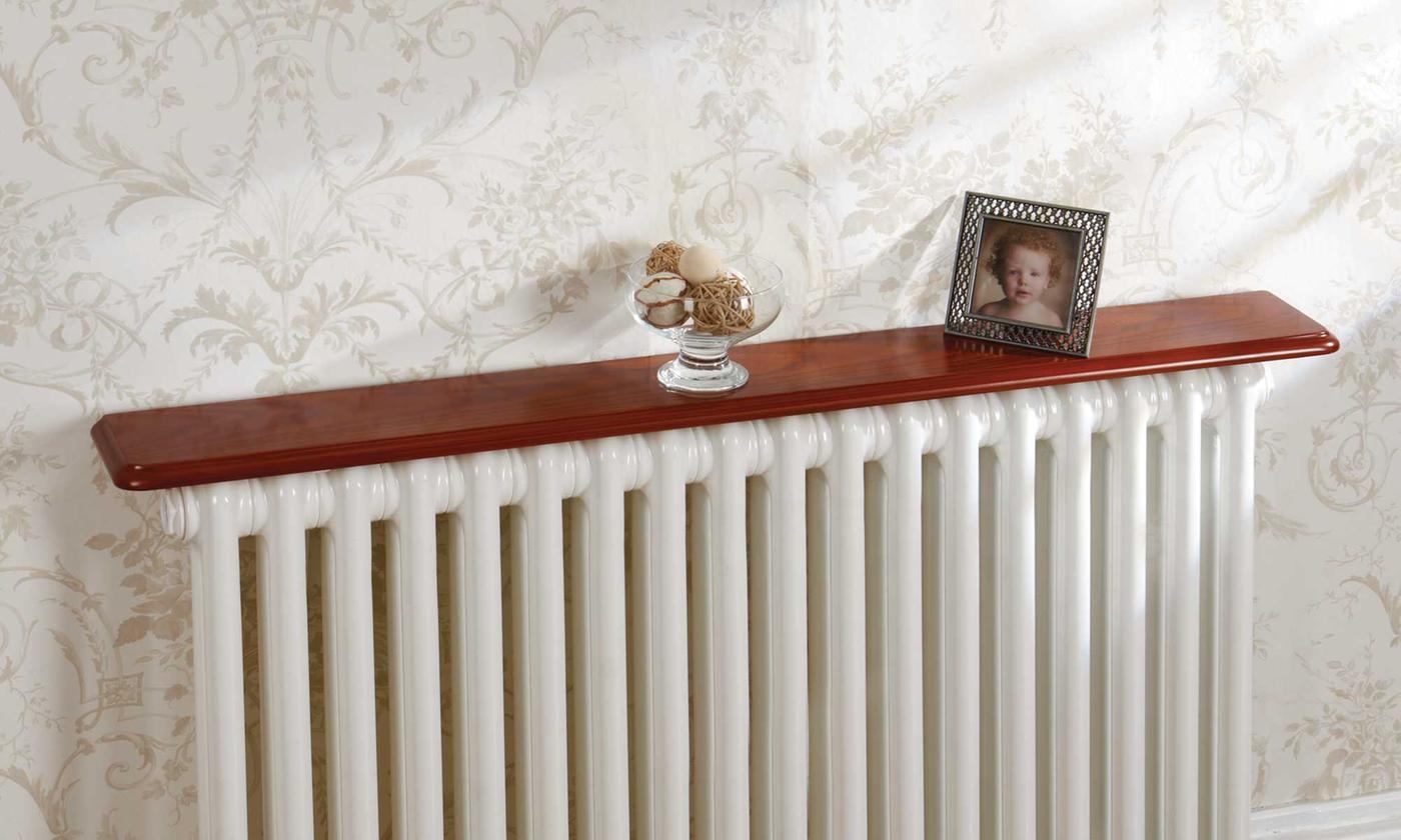 wood-effect radiator shelf