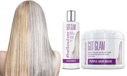 Fino a 3 shampoo coloranti argentati #Hellosilver Got Glam da 250 ml e 1 maschera per capelli da 300 ml