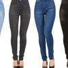 Red Jeans Women's High-Waist Slimming Faded Jeans
