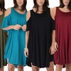 Lyss Loo Women's Sun-Kissed Cold-Shoulder Tunic Dress