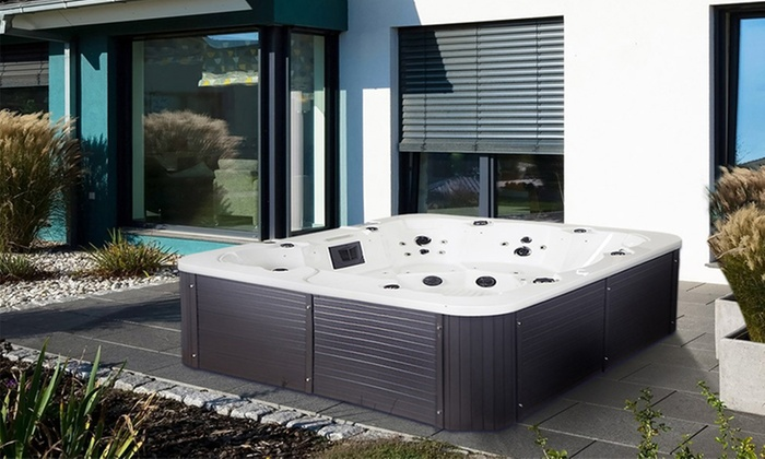 home deluxe outdoor whirlpool groupon. Black Bedroom Furniture Sets. Home Design Ideas