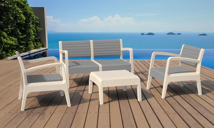 salon de jardin en polypropyl ne groupon shopping. Black Bedroom Furniture Sets. Home Design Ideas