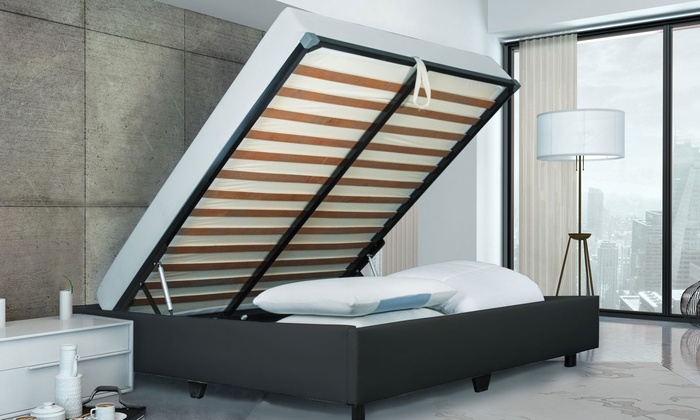 lit coffre luxe sampur groupon shopping. Black Bedroom Furniture Sets. Home Design Ideas
