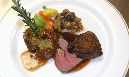 Menu en 6 services pour 2 personnes à 65 € au restaurant de l'Auberge de Frahier