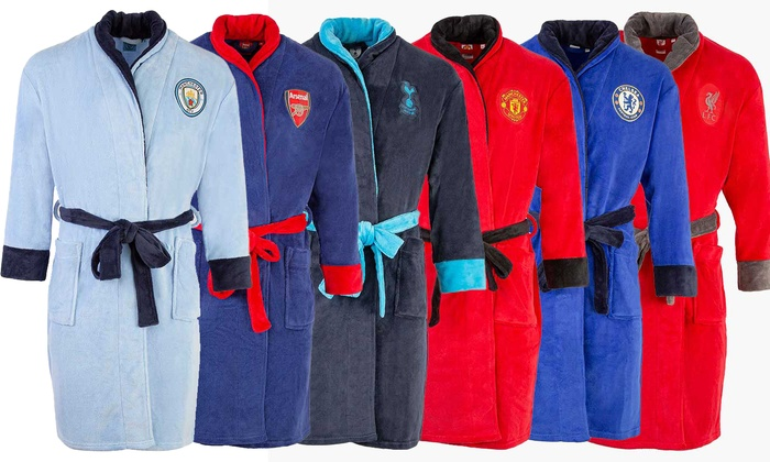 Licensed Hooded Football Dressing Gown