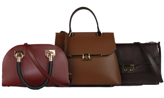Groupon Goods Global GmbH: Sacs à main en cuir, modèles et coloris au choix, dès 59,99€ (jusqu'à 70% de réduction)