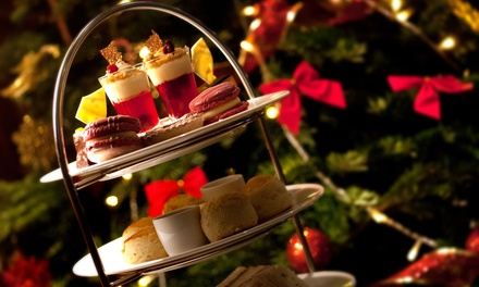 Christmas Afternoon Tea for with Mulled Wine or Bubbly for Two or Four at The Colonnade (52% Off)