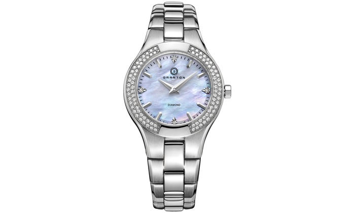 granton women Shop for granton 'presence' women's mother of pearl and diamond accented  stainless steel watch 32mm get free delivery at overstockcom - your online.