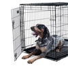 2-Door Collapsible Metal Pet Crate with Removable Tray
