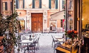 DI FRONTE A...: Menu tipico con fiasco di vino per 2 o 4 persone a due passi da Piazza di Spagna da Di Fronte A... (sconto fino a 76%)